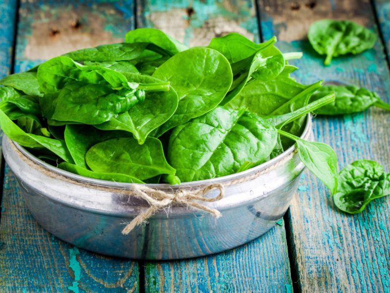 photo of leafy greens, spinach